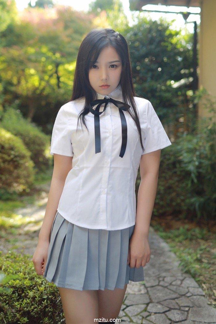 可爱萌妹徐微微唯美写真 学生JK制服写真清新怡人