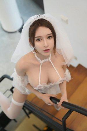 性感模特玉兔miki透视婚纱妖味十足,双峰毕露等你洞房