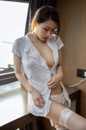 无法抵御的白衬衫诱惑,国模徐安安蕾丝内衣更加诱人