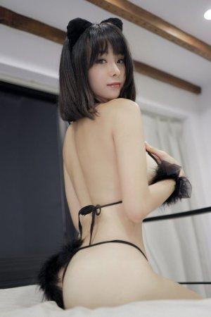 性感可爱的魅惑小妖精 模特蓝夏雪白娇躯身材诱人